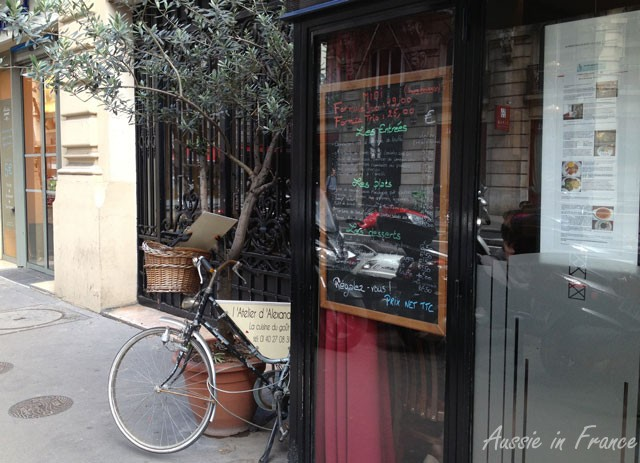L'Atelier d'Alexandre with its bike menu holder