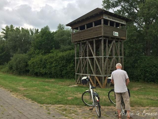 Bird observatory along the bike path