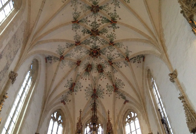 Ceiling of the abbey church in Blaubeuren