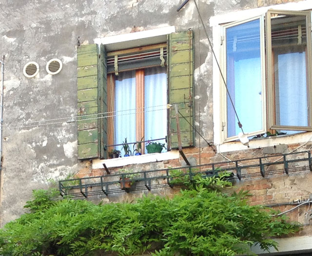 Venetian blinds and shutters