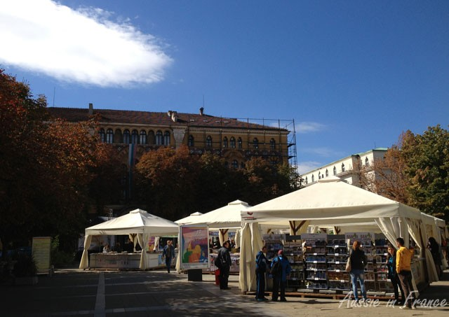 Book fair in Nedelya Square