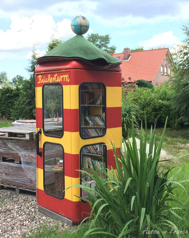 A book tower in the middle of nowhere