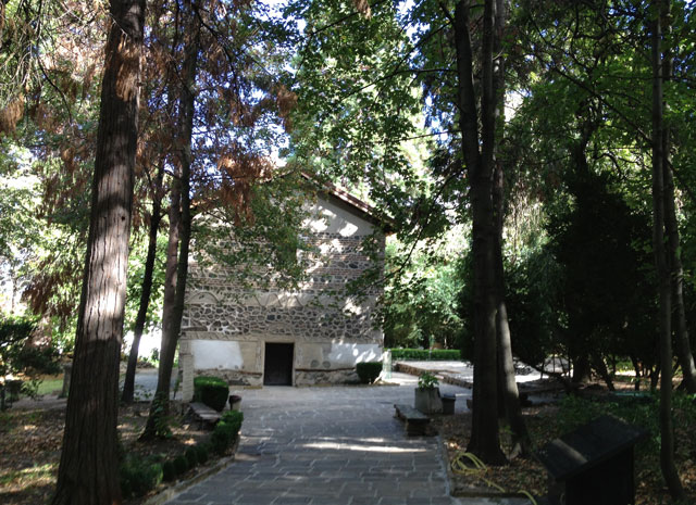 The leafy approach to Boyana Church