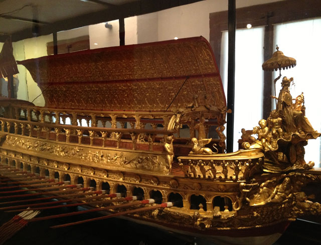 Mock-up of a Bucintoro, the Doges' ceremonial barge