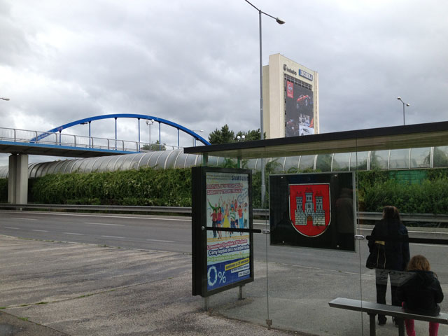 Bus stop at Esprit Hotel