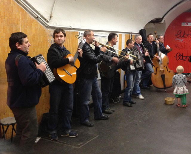 East European buskers who are often in the metro
