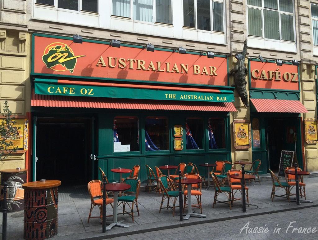 Café Oz in rue Saint Denis