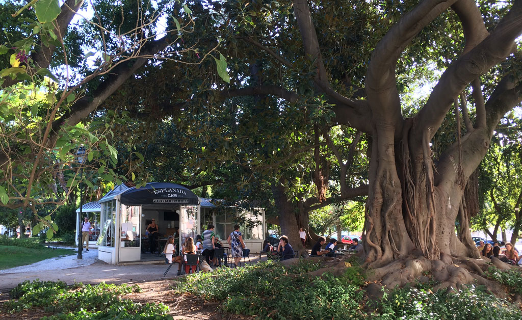 One of many outdoor cafés - there were three or four in this park alone