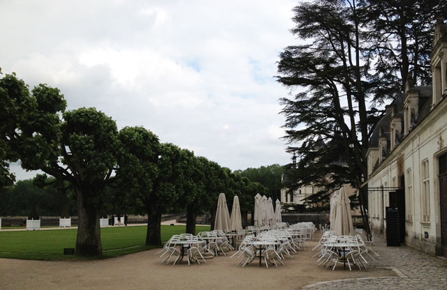 View of château from the cafeteria at Chenonceau