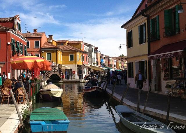 One of the canals in Burano