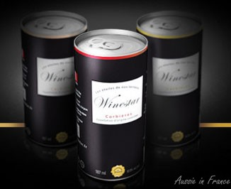 Canned wines - photo taken from WineStar website