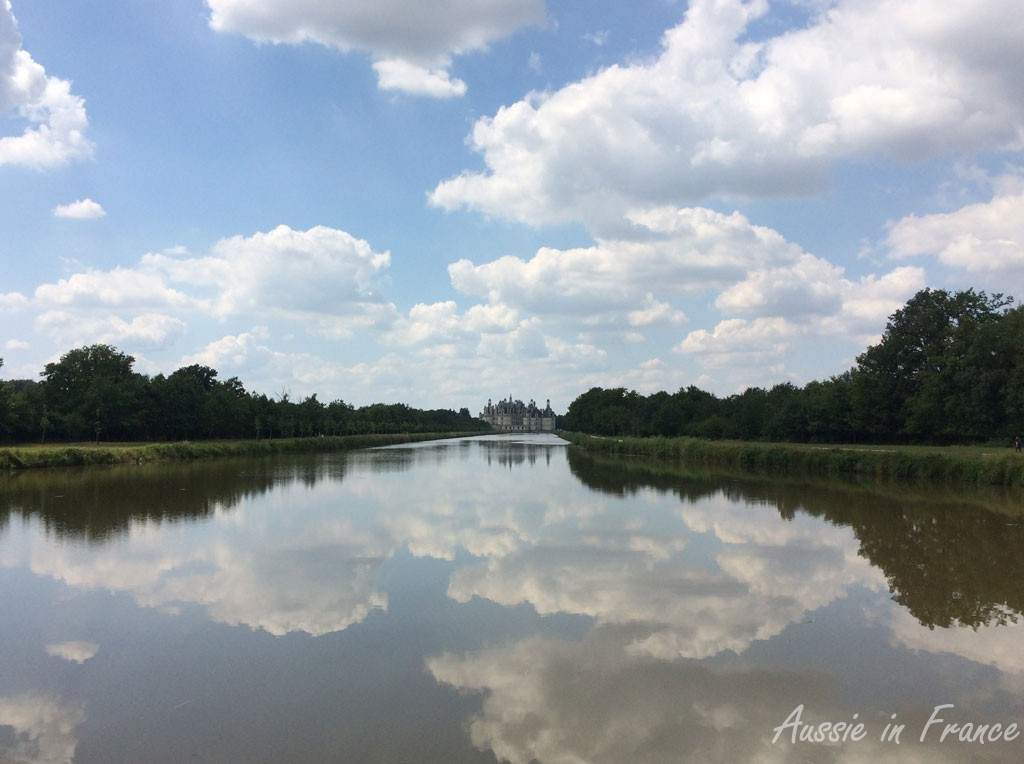 Chambord from the little bridge at the end of the Grand Canal