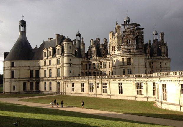 Château de Chambord after a summer downpour