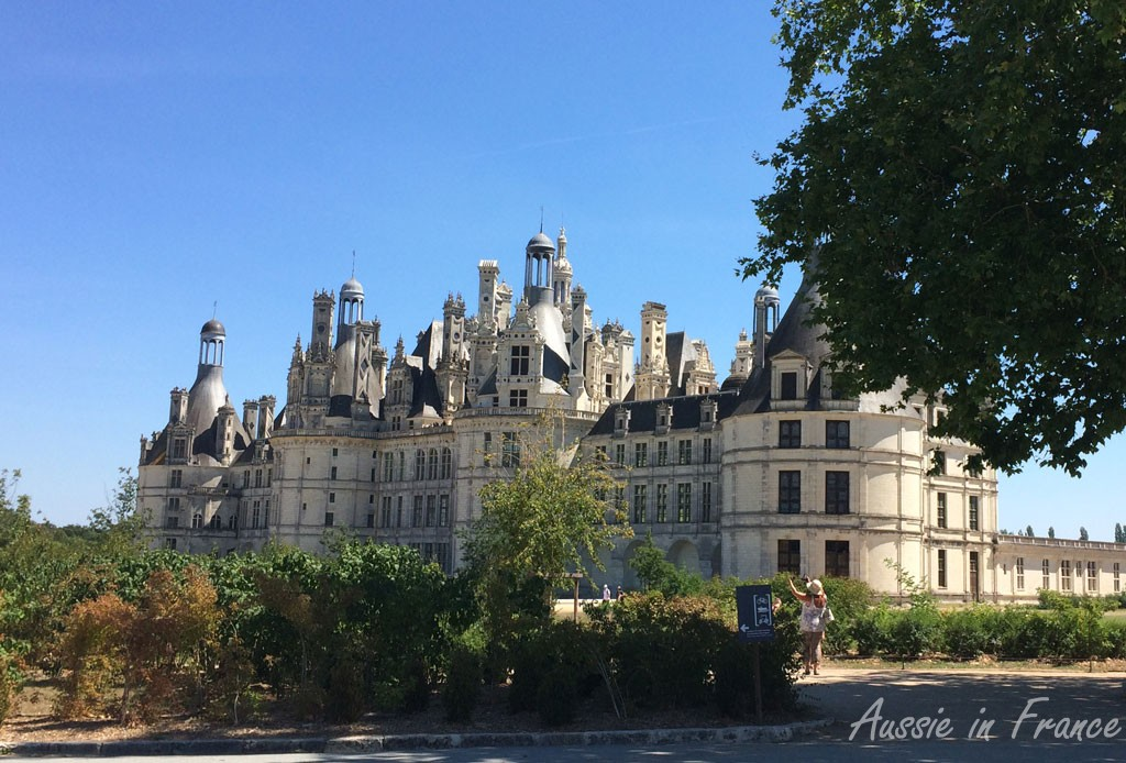 Chambord the magnificent on a hot summer day