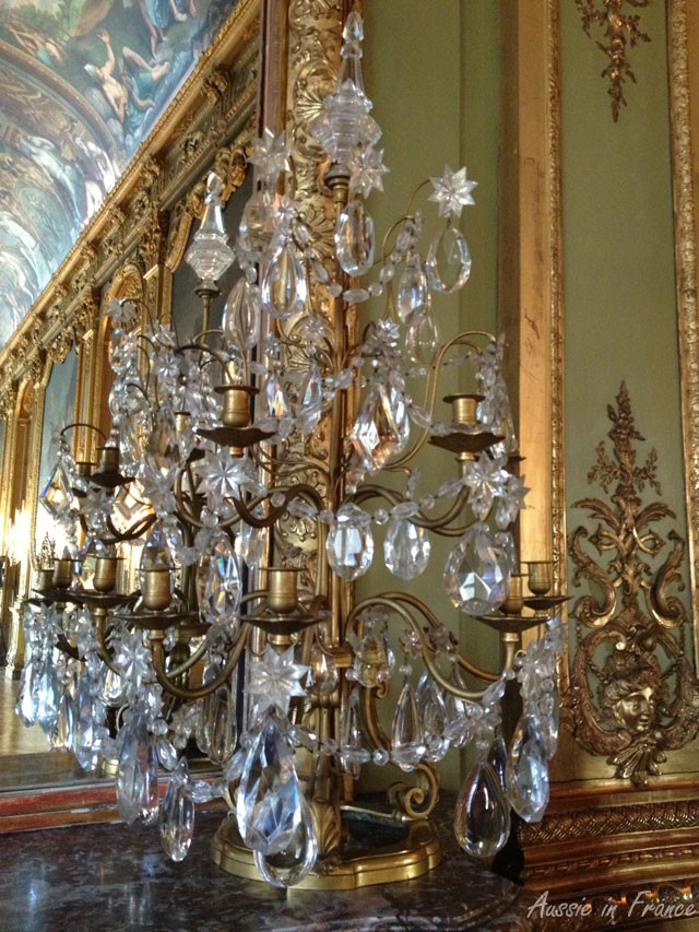 One of the sparkling clean chandeliers