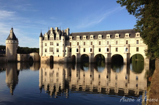Château de Chenonceau from the cycle path