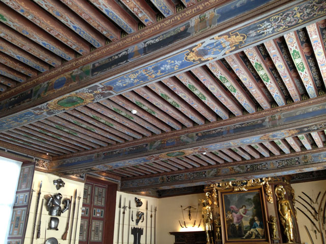 Painted ceiling in Cheverny