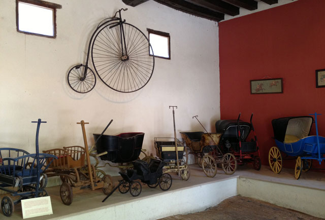 Collection of baby carriages