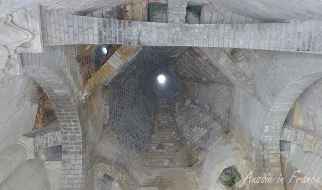 Inside one of the 12 chimneys