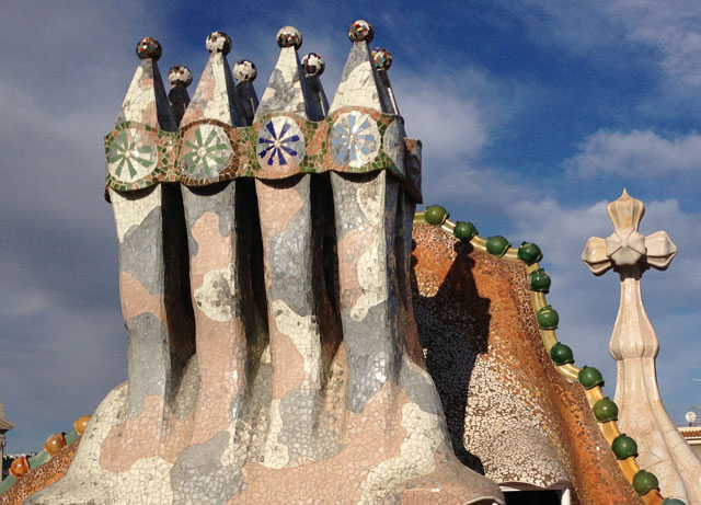 Chimneys on Casa Botllo