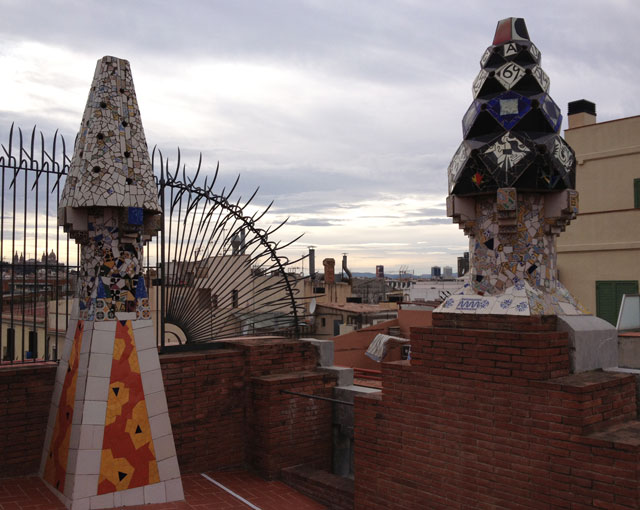 On Guell Palace looking over the city