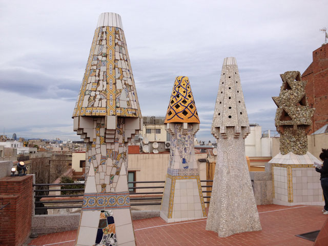 On top of Guell Palace