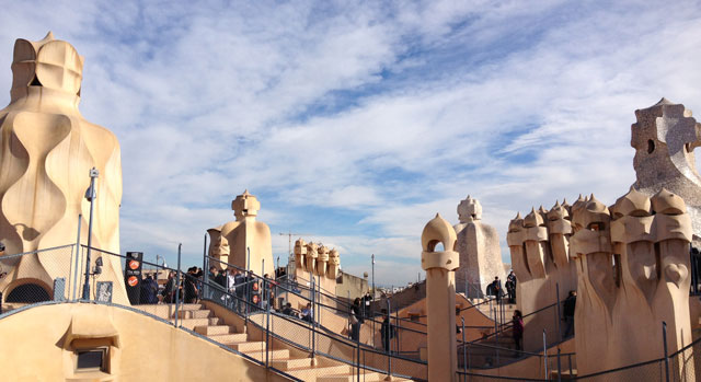Chimneys on La Pedrera