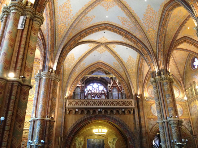 Painted interior of Mathias Church
