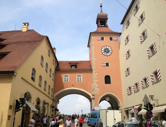 Town gate leading to the Old Bridge
