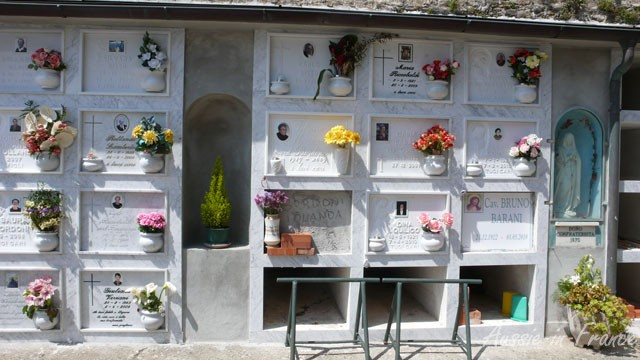 Close-up of the columbarium in the Cinque Terrae