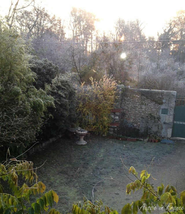 Morning frost from the same window
