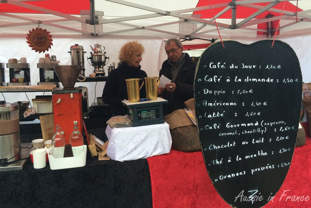 The red & black coffee stall