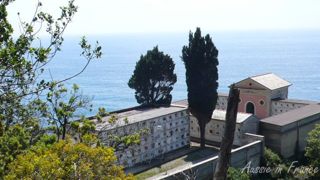 Columbarium in the Cinque Terrae overlooking the sea