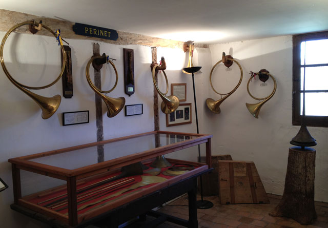 Collection of hunting horns