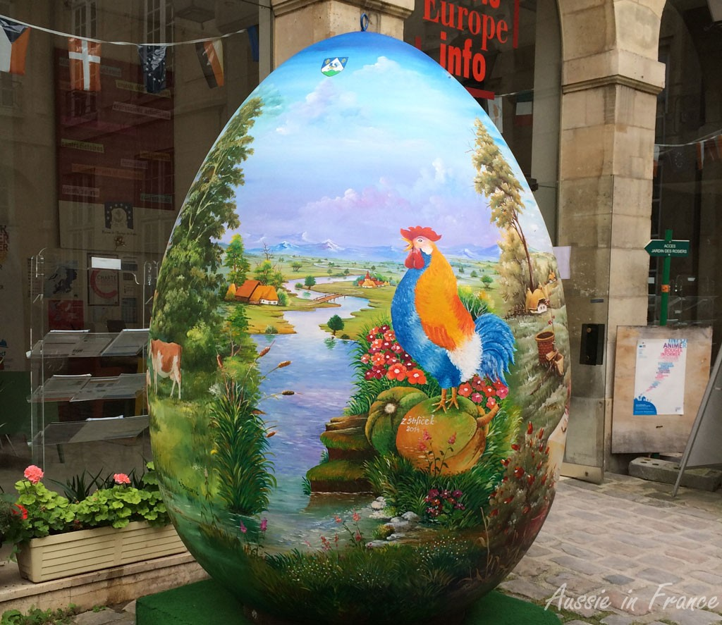 Giant Easter Egg at the Maison de l'Europe in rue des Francs Bourgeois