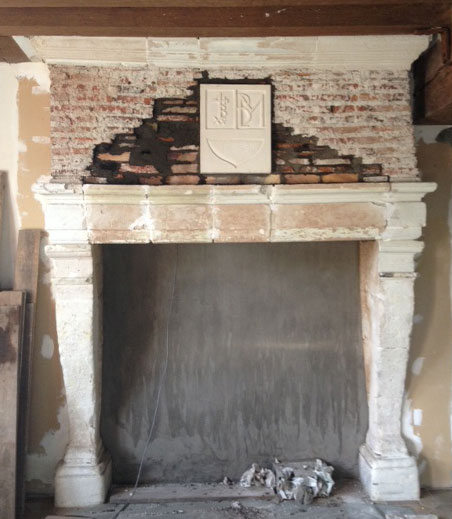 Current state of upstairs fireplace