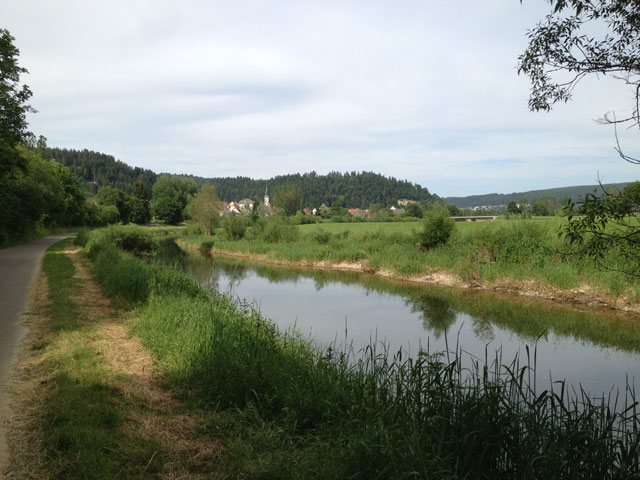 One of the canals along the Danube