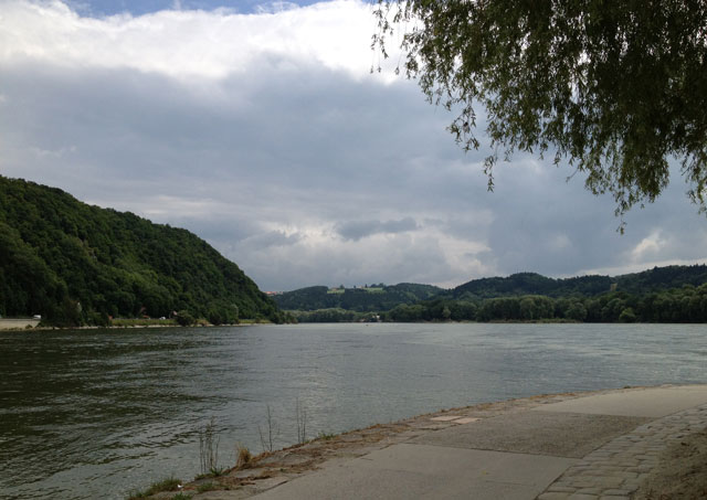 Where the Danube and Inn join