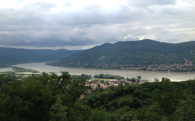 The Danube from Visigrad