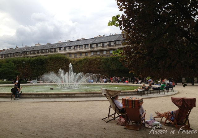 Deck chairs in the Palais Royal Gardens