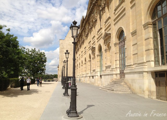 Back of the Decorative Arts museum next to the Louvre