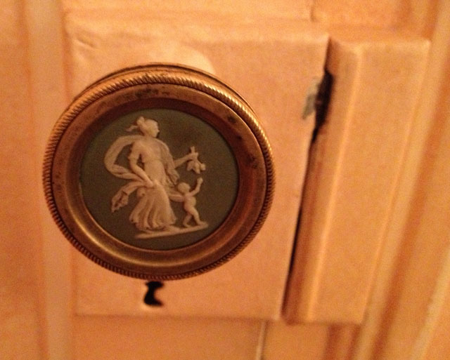 The stunning cameo on one of my friend's doors