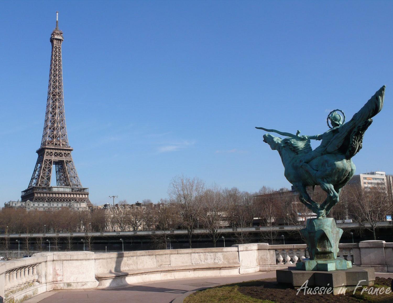 The Eiffel Tower from Bir Hakeim bridge