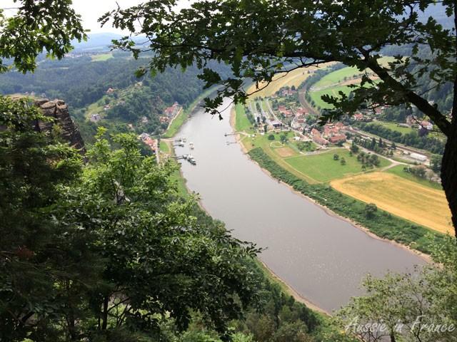 The Elbe from Bastei Rocks