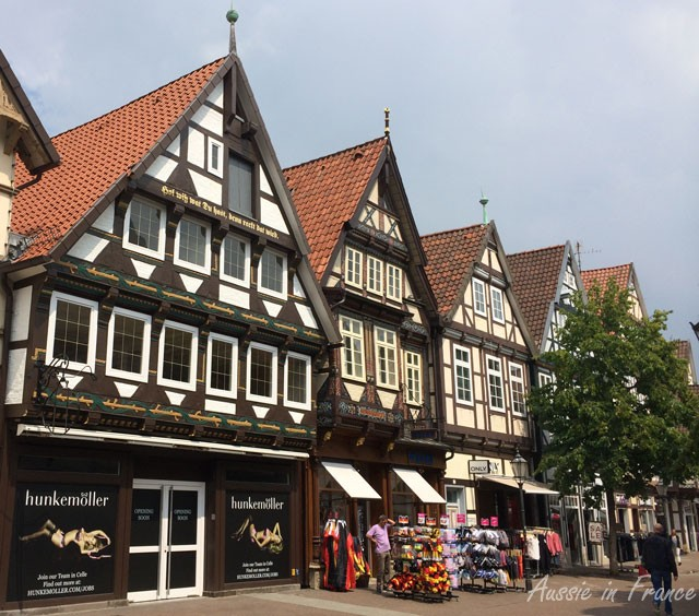 Painted façades in Celle