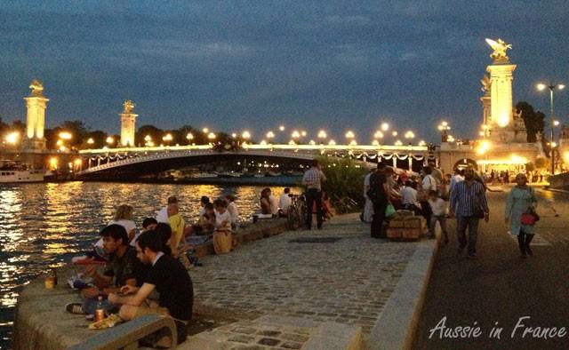 Opposite Faust's near Alexandre III bridge