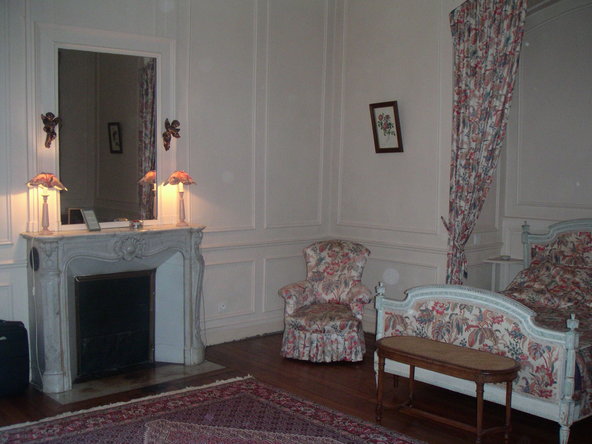 Our château bedroom on my 50th birthday