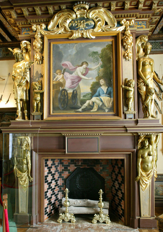 Fireplace in the Arms Room