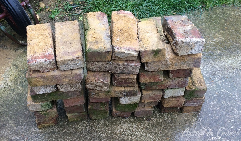 The first pile of bricks
