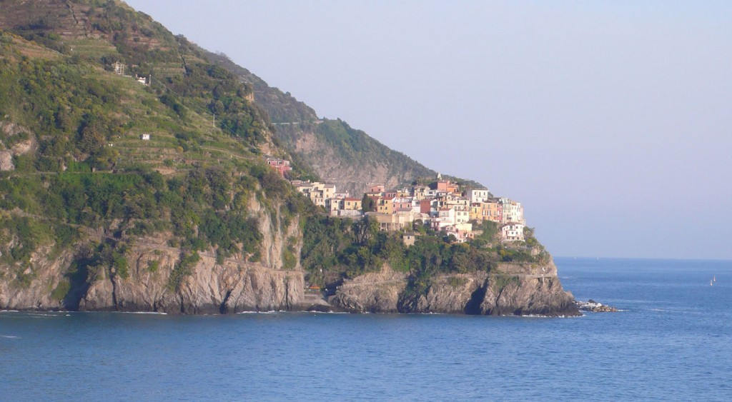 First view of the Cinque Terre in Italy